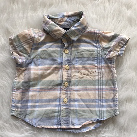 45baa9a1c GAP Shirts & Tops | Infant Boy Button Down Shirt Size 36 Months ...